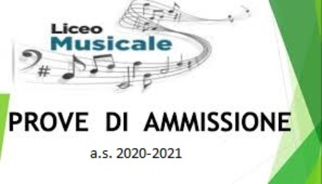 Calendario esami di ammissione al Liceo Musicale